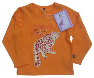 Animal Tails Ethical organic Fair Snow Leopard Yellow Long Sleeve top (12-18 m)