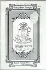 "Easy Sew Designs - Brown House Dolls Pattern Bhd466 Sizes 23-24"" Christening"