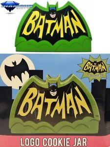 Diamond Select Toys DC Batman 1966 Logo Ceramic Cookie Jar Brand New In Stock