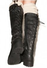 NWOB $89 Wanted Ballard Knee-High Back Lace-up Boot - Sz 10 (Black)