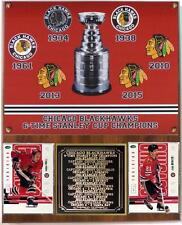 Chicago Blackhawks 6-Time Stanley Cup Champions Photo Card Plaque Hull Mikita
