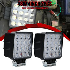 PAIR 48W Spot Lamp Watt High Power LED Work Light Car Reverse ATV 4WD 12V 6000K