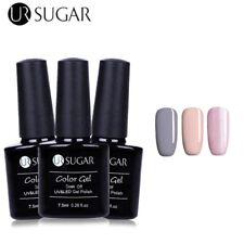 3Bottles/Set UV LED Gel Nail Polish Soak Off Gltter Pink  Gray Gel UR SUGAR