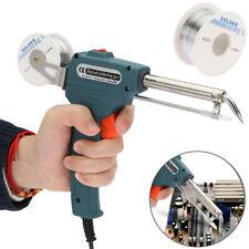 Auto Electric Soldering Iron Gun w/ FLUX 2% Solder Wire Tin wire 50g 60W 110V US