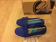 New Crocs Adela Suede Moccasins Flats - Size 8 -RRP$89.99