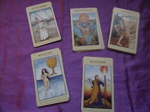 MYTHIC TAROT CARDS PRE-COPYRIGHT 1986 DECK ONLY RARE + BLACK SILK CLOTH