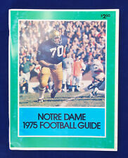 1975 Notre Dame Fighting Irish Football Guide Media Book Magazine Vintage