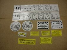 IHC Farmall Cub (Early) Tractor Decal Set - NEW FREE SHIPPING