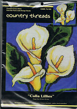 """Countrty Threads """" Calla Lillies """". Counted Cross Stitch Kit"""