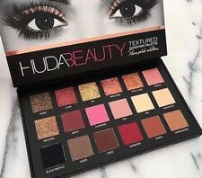 NUOVO Huda Beauty con Texture Eye Shadows PALETTE Rose Gold Edition 18 Colori UK