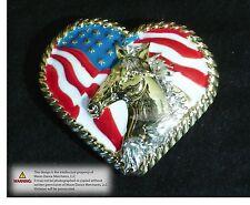 "Western Equestrian Tack Concho Horse N Heart 1 1/2"" Concho"