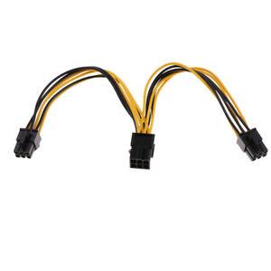 Carte graphique 6 broches à 2 x PCIe 6 broches Câble d'extension PCI-e