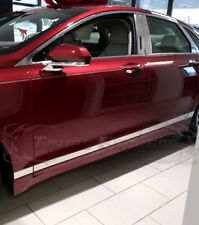 """2013-2018 Lincoln MKZ Flat Chrome Body Side Molding Trim 3"""" 8Pc Stainless Steel"""