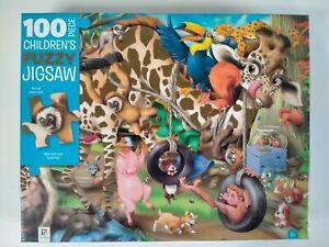 100 Piece Children's Fuzzy Jigsaw Big Pieces Fuzzy Fur Sensory Puzzle 6+