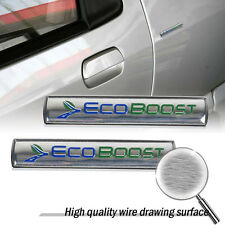 2x New Style Metal EcoBOOST Car Body Trunk Side Rear Emblem Badge Sticker Decal
