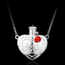 HARRY POTTER LOVE POTION HEART BOTTLE NECKLACE SILVER & FREE GIFT BAG