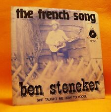 "7"" Single Vinyl 45 Ben Steneker The French Song 2TR 1980 (MINT) Folk Pop Country"
