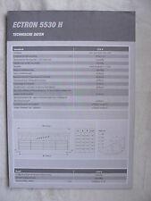 0302) DEUTZ-FAHR Ectron 5530 H - technische Daten - Prospekt Brochure 11.2003
