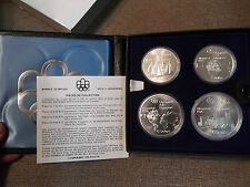 1976-Canada-Montreal-Olympic-Games-Proof-4) Coin Set Series I (4) w/  BOX/COA