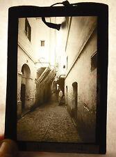 Plaque photo Alger Algérie Afrique du nord une rue de la Casbah vers 1920
