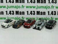 LOT n°4 : 5 X 3 inches 1/64 PEUGEOT NOREV 308 RCZ 3 portes, 908 HY, concept Onyx