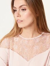 Mohito Blouse with Lace Neckline Size Uk S rrp £70 LS082 AA 06