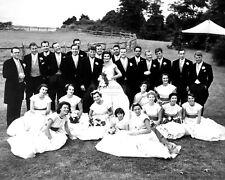 JOHN F. KENNEDY & JACQUELINE BOUVIER WEDDING PARTY IN 1953 - 8X10 PHOTO (AB-226)