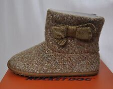 Women's Knit Booties Size 8.5 Beige Rocket Dog EU39 Spark Bootie Short Boots