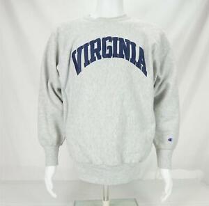 Vintage University of Virginia Sweatshirt Champion Reverse Weave Gray Large