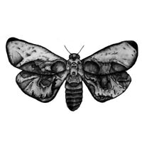 Death Skull Moth Butterfly Waterproof Temporary Tattoo Fake Sticker Women Girls