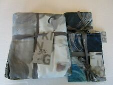West Elm Tencel Full queen Duvet Artist's Palette + 2 standard shams New w tag