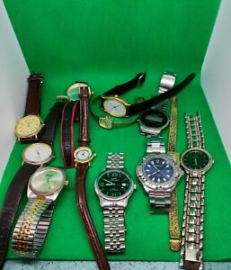 Job Lot 12 Wrist Watches, Including Slazenger,Rotary,Joseph Bernard,Louifrey