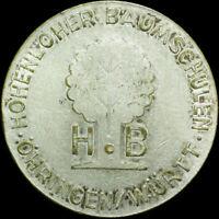 REKLAMEMARKE: Versilberte Marke. HOHENLOHER BAUMSCHULEN ÖHRINGEN / WÜRTTEMBERG.