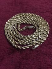 Yellow Gold 10 Kt Rope Chain Lobster Lock 25 Inches 3 mm