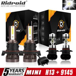 For Hummer H3 2006-2010 6000K LED Headlight Hi/Lo + Fog Light 4 Bulbs Combo kit