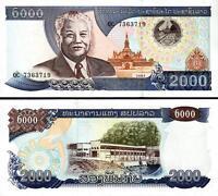LAO LAOS 2,000 2000 KIP 2003 UNC CONSECUTIVE 20 PCS LOT P.33