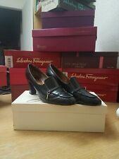 Vintage Frank More Black Leather Heels Pumps