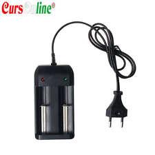 Caricabatterie Due Posti Universale per Batterie mod 18350 18650 14500 14300 ecc
