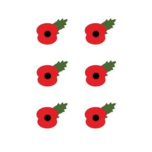 REMEMBRANCE DAY POPPYS  - IRON ON TSHIRT TRANSFERS - A6