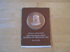 1973 The Franklin Mint Museum of Medallic Art Bronze Medal sealed in plastic