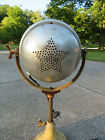 Working Art Deco Antique Lighting Twin Carbon Arc Lamp Industrial Star Dallas