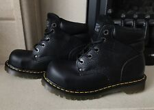 Dr Martens Saxby Black Noir Oil Tumble Steel Toe Cap Boots Size 6 New