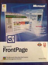 Microsoft FrontPage 2002 boîte de détail pour Windows authentique avec clé de produit