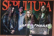 autograph SEPULTURA signed  20X30 cavalera hard rock thash