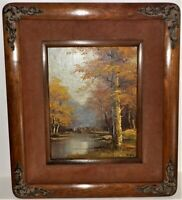 REEVES ART PAINTING RIVER STREAM LANDSCAPE ORIGINAL OIL ON CANVAS