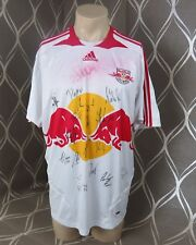 Red Bull Salzburg 2007-08 home shirt adidas jersey squad signed 17 signatures L