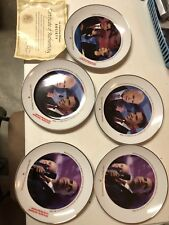 "Lot Of 5 Barak Obama 2008 Elections - 8"" Decor Plate American Historic Society"