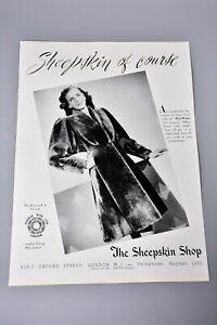 Vintage Advert/Clipping/Print: Ladies Fashion, The Sheepskin Shop, Coat