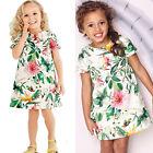 Mode Enfants Bébé Fille Vêtements Manche Courte Fleur Ligne-A Robe Soirée 1-6Y