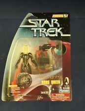 """SIGNED STAR TREK PLAYMATES 3 3/4"""" ACTION FIGURE BORG QUEEN. FREE UK POSTAGE."""